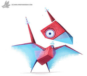 Daily Painting 761. Kanto 137 - Porygon Redesign