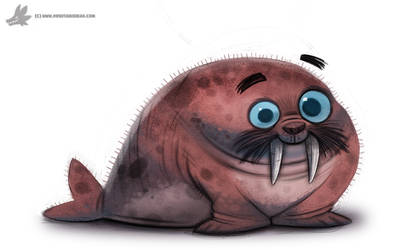 Daily Painting 766. Walrus by Cryptid-Creations