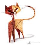 Daily Painting 770. Paper Cheetah