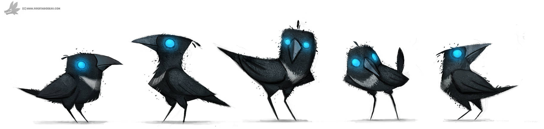 Daily Paint 778. Sidhe - Magpies