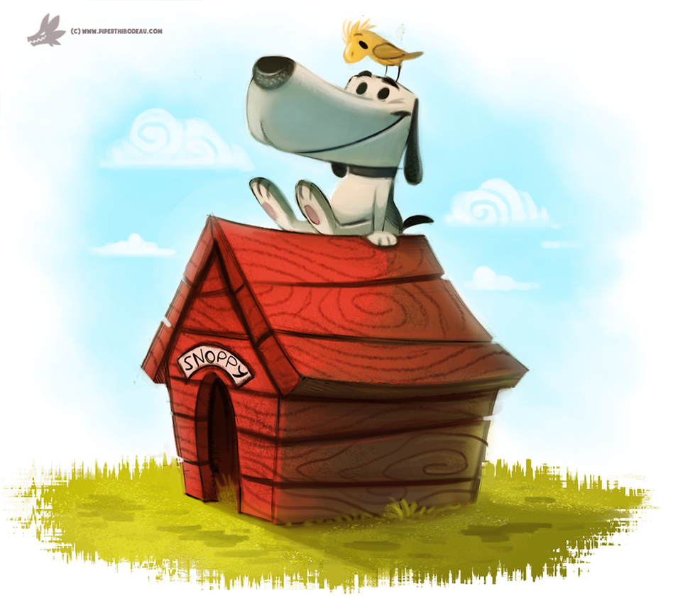 Day 822. In which Piper spells #SNOOPY wrong by Cryptid-Creations