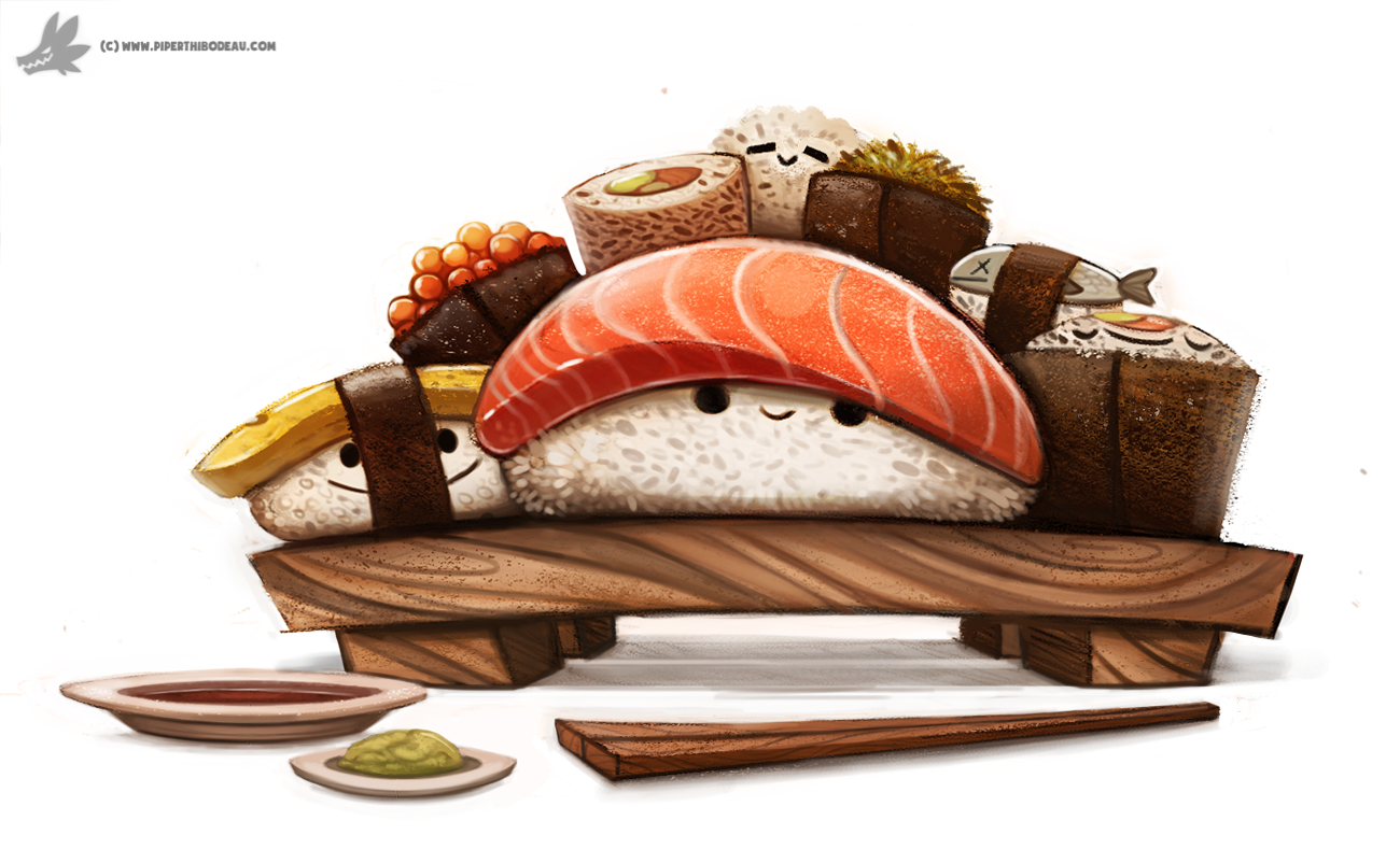 Day 830 Sushi Party By Cryptid Creations On Deviantart