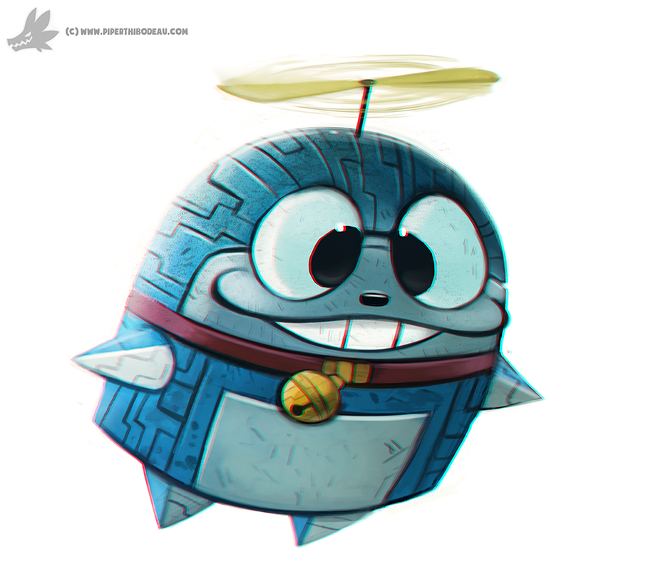 Daily Painting #859. Doraemon by Cryptid-Creations