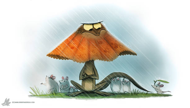 Daily Painting #861. Umbrella Lizard