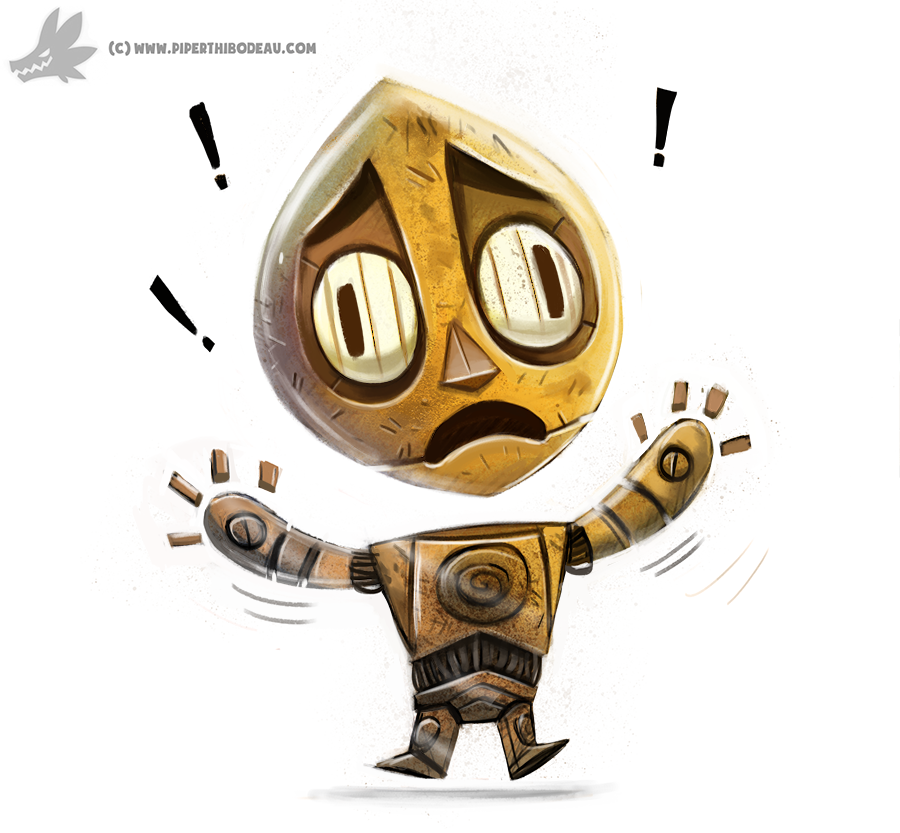 Daily Painting 874. #C3PO #StarWars by Cryptid-Creations