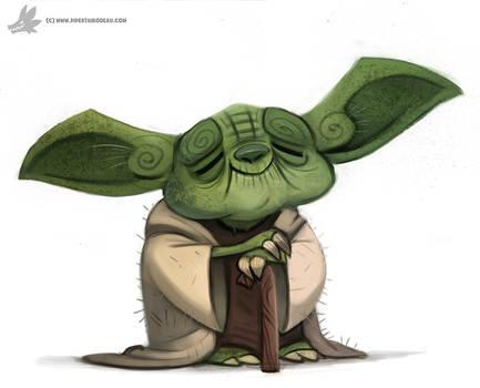 Daily Painting 877. Yoda