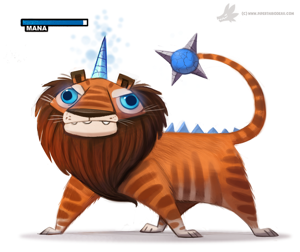Daily Painting 891# 'Bred for its skills in magic' by Cryptid-Creations on DeviantArt