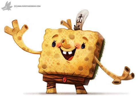 Daily Painting 893# SpongeBob Rectangle Pants