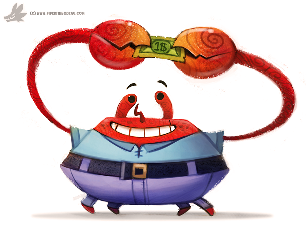 Daily Painting 894# Mr. Krabs by Cryptid-Creations