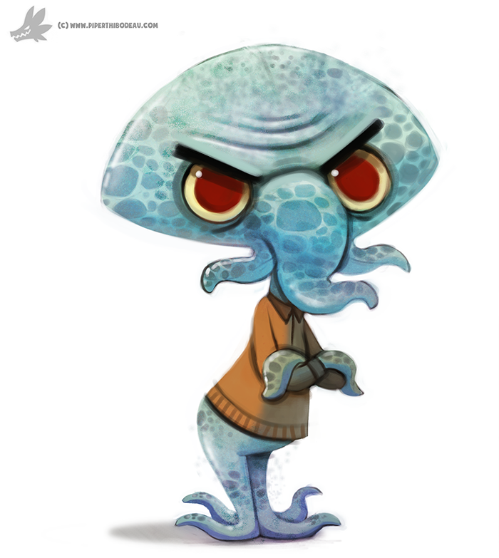 Daily Painting 896# Squidward By Cryptid-Creations On