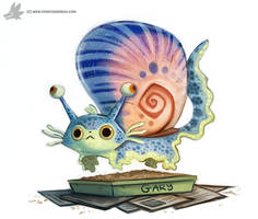 Daily Painting 898# Gary the Snail by Cryptid-Creations