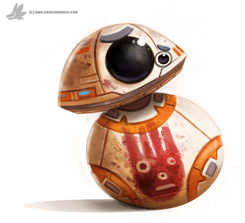 Daily Painting 904# BB-8 by Cryptid-Creations
