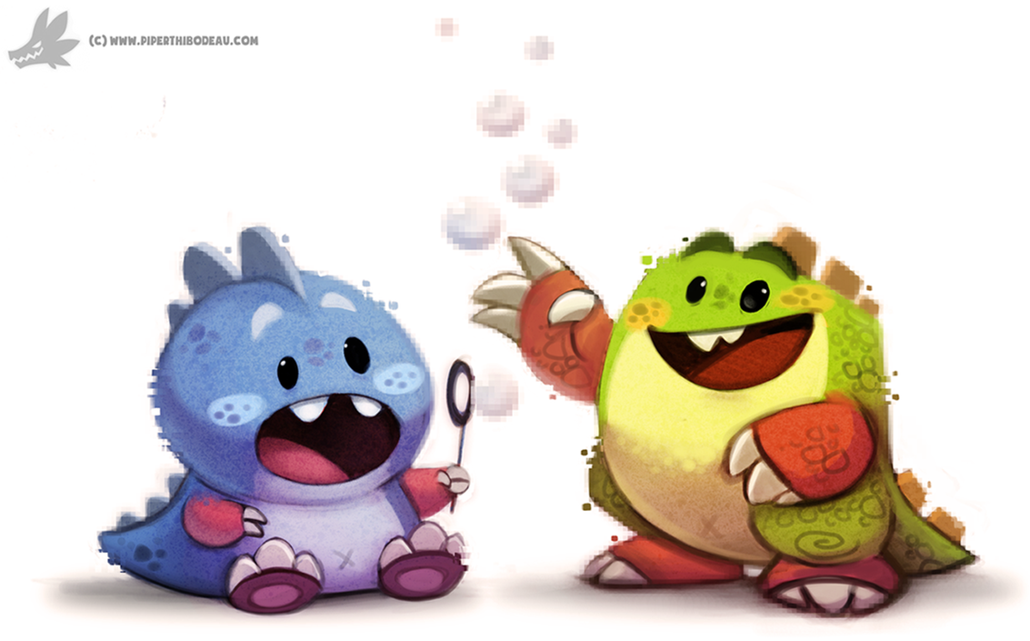 Daily Painting 907# Bubble Bobble by Cryptid-Creations