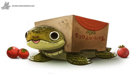 Daily Painting 908# Box Turtle