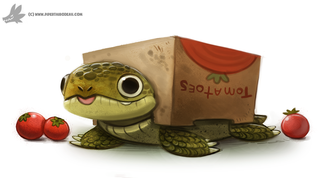 daily painting 908 box turtle by cryptid creations on deviantart