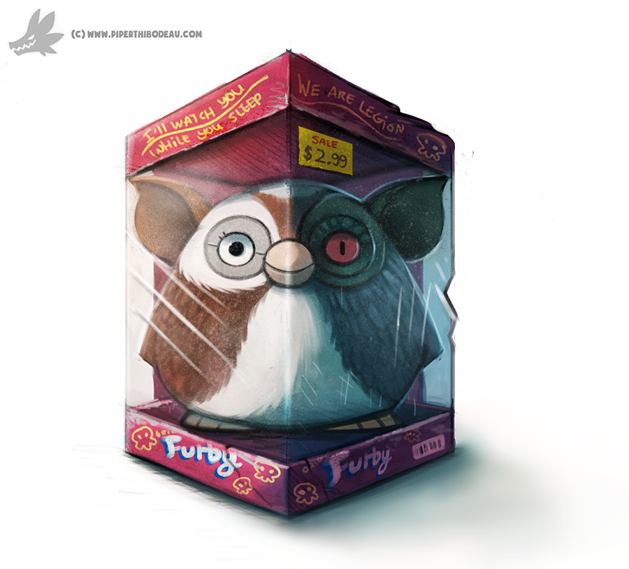 Daily Painting #913 Yup...totally a Furby by Cryptid-Creations