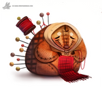 Daily Painting #919 - Porcupine Granny