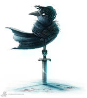 Daily Painting #923 You know nothing Jon Crow