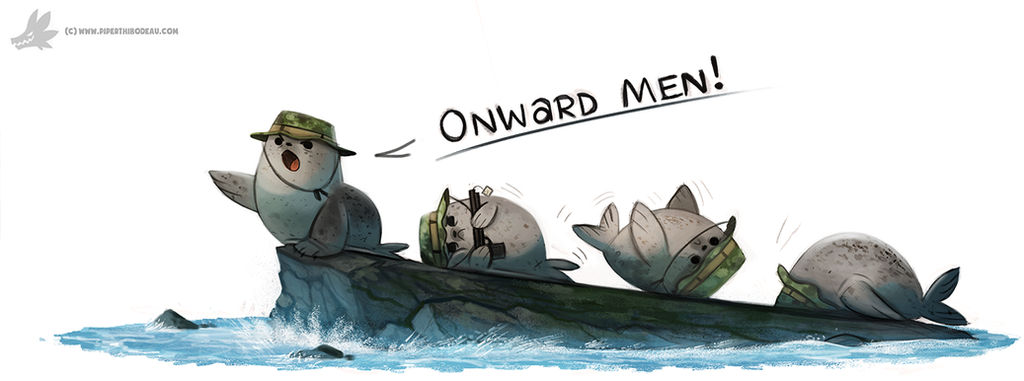 Daily Painting #929. Navy Seals