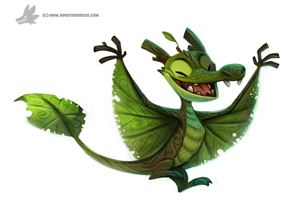 Daily Painting #934. Arboreal Dragon