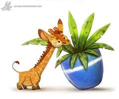 Daily Painting #949. Pygmy Giraffe (OG)