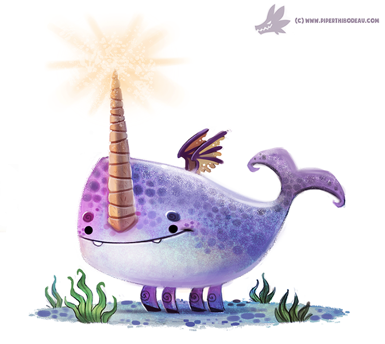 Daily Painting #952. Underwater Unicorn (OG) by Cryptid-Creations