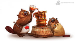 Daily Painting #953. Happy Canada Day! (OG)