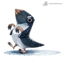 Daily Painting #957. Polar Dinosaur (OG) by Cryptid-Creations