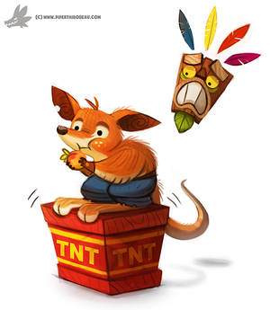 Daily Painting #960. #CrashBandicoot (FA)