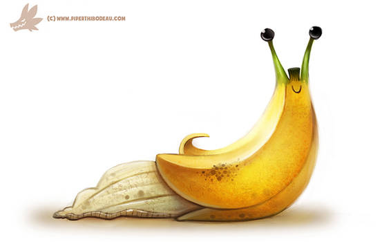 Daily Painting #969. Banana Slug (OG)