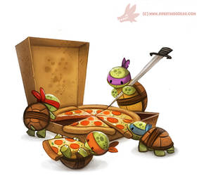 Daily Painting #972. TMNT (FA) by Cryptid-Creations