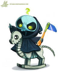 Daily Paint #977. Baby Reaper (OG) by Cryptid-Creations