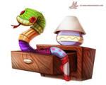 Daily Paint #982. Sock Snekkk (OG)