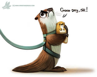 Daily Paint #983. GOOD DAY, SIR! (FA) by Cryptid-Creations