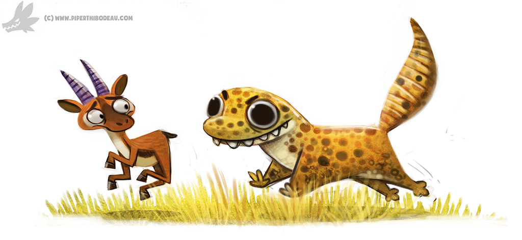 Daily Paint #987. Leopard Gecko (OA) by Cryptid-Creations