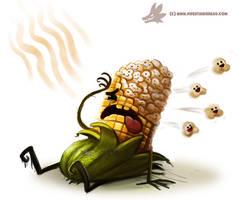 Daily Paint #988. Popcorn (OA)