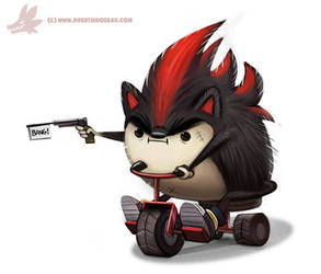 Daily Paint #990. Edgy the Hedgy (FA)