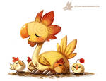 Daily Paint #1002. Kentucky Fried Chocobo