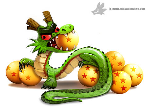 Daily Paint #1004. Shenron