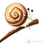 Daily Paint #1010. Cinnamon Snail
