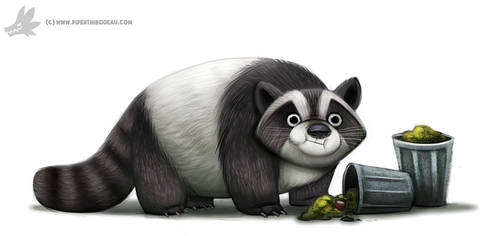 Daily Paint #1012. Trash Panda