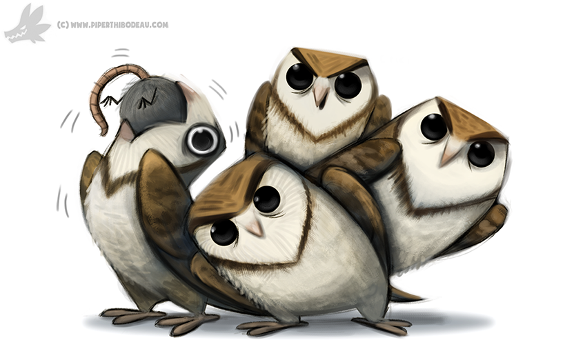 Daily Paint #1014. Tribute to my favourite GIF by Cryptid-Creations