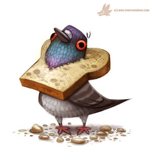Daily Paint #1017. Bread Head