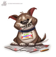 Daily Paint #1022. Homework Shredder by Cryptid-Creations