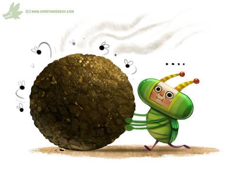 Daily Paint #1023 Katamari Dung Beetle