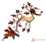 Daily Paint #1024. Autumn Sea-Dragon