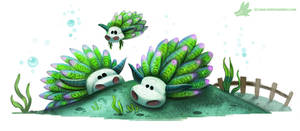 Daily Paint #1027. This is a real animal