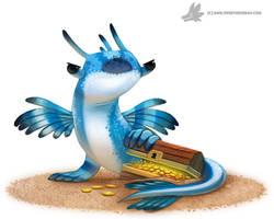 Daily Paint #1028. 'Blue Dragon Slug'