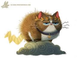 Daily Paint #1032. Zeus Cat