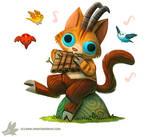 Daily Paint #1035. Pan Cat (+Mini announcement)